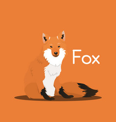 cute cartoon wild foxanimal graphic vector image