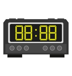Digital alarm clock icon vector