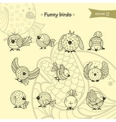 Fanny birds vector