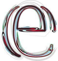 Font letter e vector