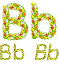 font type letter B vector image
