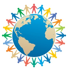 global community vector image vector image
