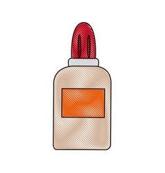 Glue bottle utensil school tool icon vector