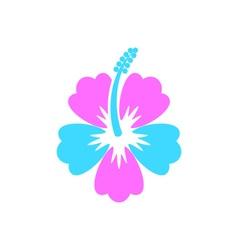 Hibiscus flower icon vector