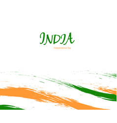 independence day of india watercolor sign on white vector image vector image