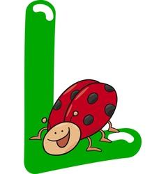L for ladybug vector image