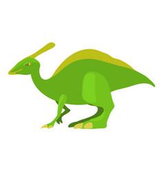 parasaurolof icon cartoon style vector image