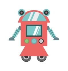robot cyborg machine futuristic vector image