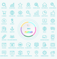 set of universal seo search engine optimisation vector image vector image