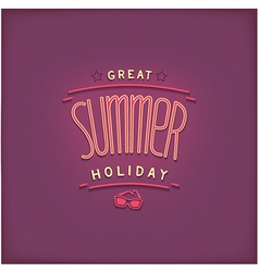 Summer retro lettering design vector image vector image