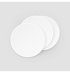 White Round Blank Beer Coasters Isolated vector image