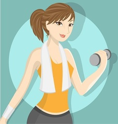 Fitness girl 2 vector