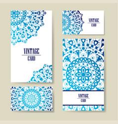 invitation graphic card with mandala decorative vector image