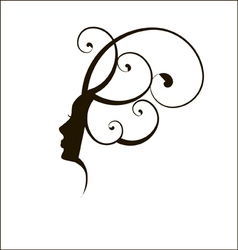 Woman face silhouette profile vector