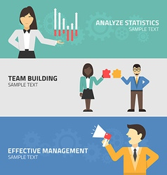 Flat design concept for statistics team building vector image