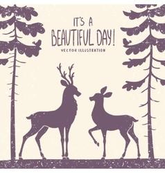 deer couple vector image