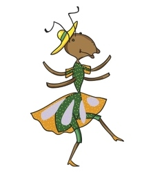 Fabulous ant is dancing vector