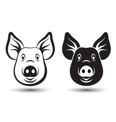 Face pig vector