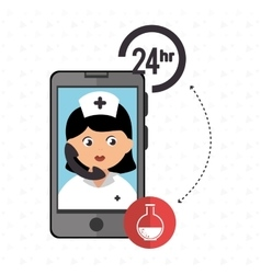 Nurse 24-hour health odontology isolated icon vector