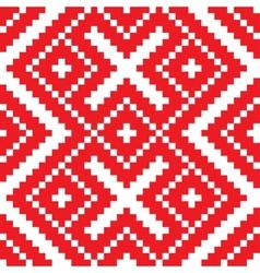 Belorussian ethnic ornament seamless pattern vector