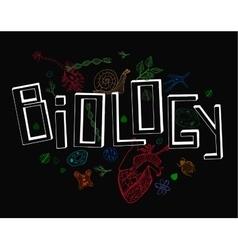 Biology Lettering vector image