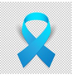Blue ribbon solidarity awareness symbol vector