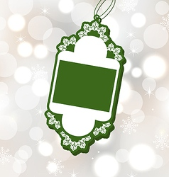 Christmas sale label on glowing background vector image