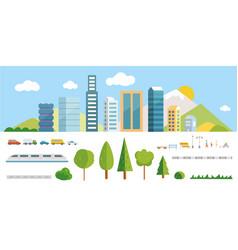 city constructor elements vector image vector image