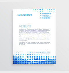 Creative blue business letterhead design vector