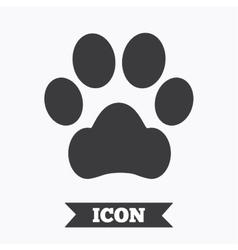 Dog paw sign icon Pets symbol vector image