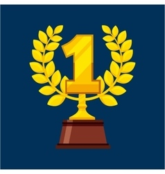 First place award isolated icon vector
