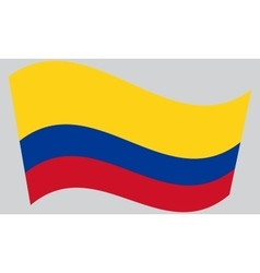 Flag of colombia waving vector