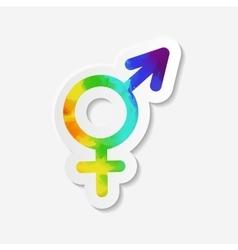 Gender identity icon Intersex or transgender sign vector image