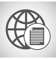 Global digital paper network design vector