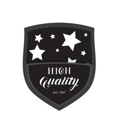 High quality shield emblem logo vector