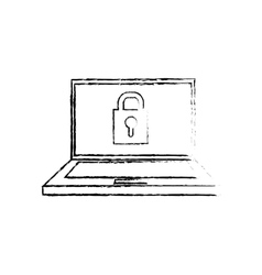 Laptop computer technology vector image vector image