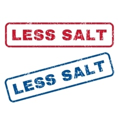 Less salt rubber stamps vector
