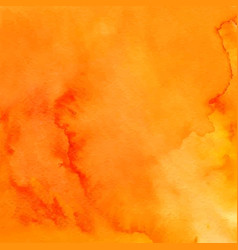 Orange abstract hand drawn watercolor background vector