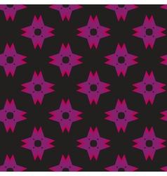 Purple shuriken pattern on dark vector