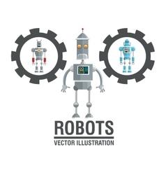 Robot design Technology concept humanoid icon vector image