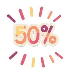 Sale in Shop Concept in Flat Design vector image