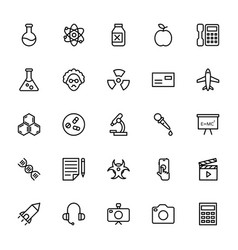 Science and technology line icons 1 vector