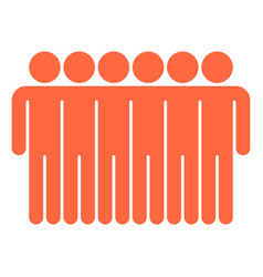 Six man sign people icon vector