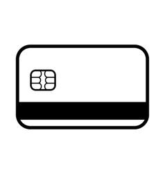 The credit card icon bank card symbol vector