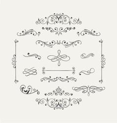 variety retro ornaments vector image vector image