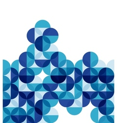 Blue modern geometric abstract background vector image