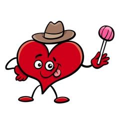 heart cartoon character vector image
