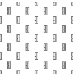 Steel door pattern simple style vector