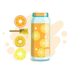 Citrus pineapple and honey smoothie non vector
