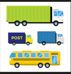 Delivery transport cargo truck vector